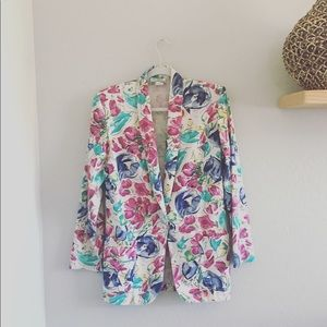 Vintage oversized Floral Blazer | Small